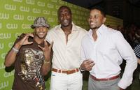 Pooch Hall, Terry Crews and Hosea Chanchez at the CW Network's Affiliate Launch party.