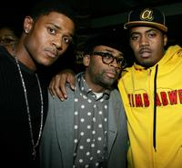 Pooch Hall, Director Spike Lee and Nas at the premiere of