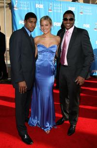 Pooch Hall, Brittany Daniel and Hosea Chanchez at the 38th annual NAACP Image Awards.