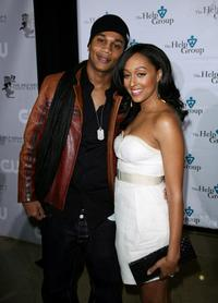 Pooch Hall and Tia Mowry at the Help Group's Teddy Bear Ball.
