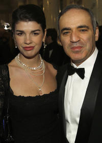 Julia and Garry Kasparov at the 7th Annual Cinema for Peace Gala in Berlin.