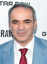 Garry Kasparov at the G-Star Raw World Chess Challenge in New York.