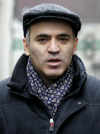 Garry Kasparov at the Russia's Central Election Commission in Russia.
