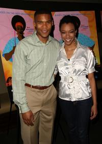 Gaius Charles and Sonequa Martin at the screening of
