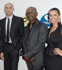 Mark Strong, Lennie James and Athena Karkanis at the California premiere of