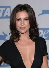 Alyssa Milano at the PETA's 15th Anniversary Gala and Humanitarian Awards.