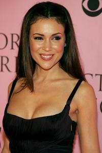 Alyssa Milano at the Victoria's Secret Fashion Show.