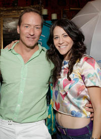 Jackie Tohn and Guest at the Melanie Segal's Celebrity S.O.S (Save Our Seas) Lounge - Day 1 in California.
