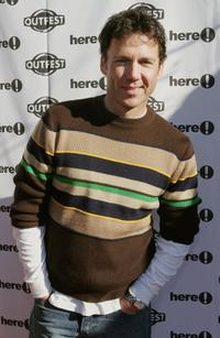 David Millbern at the Sundance Outfest Queer Brunch with John Waters during the 2006 Sundance Film Festival.