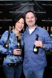 Betty Milder and Andy Milder at the Moet and Chandon suite during the 2008 SAG Awards.