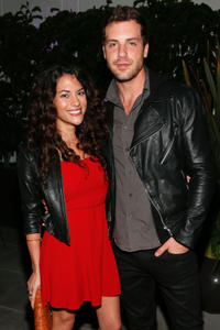 Inbar Lavi and Tilky Jones at the celebration of NYLON's December/January Cover Star Lucy Hale in California.