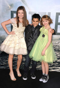 Jadin Gould, Bryce Cass and Joey King at the California premiere of