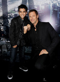 Bryce Cass and Aaron Eckhart at the California premiere of