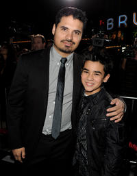 Michael Pena and Bryce Cass at the California premiere of