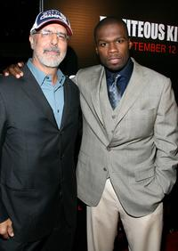 Director Jon Avnet and Curtis Jackson at the premiere of