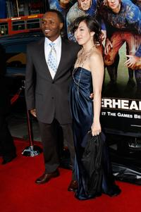 Malcolm Goodwin and Guest at the premiere of