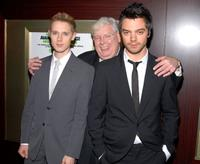 Samuel Barnett, Richard Griffiths and Dominic Cooper at the screening of
