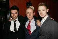 Dominic Cooper, director Nicholas Hytner and Samuel Barnett at the special screening of