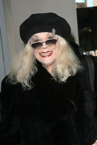 Sylvia Miles at the Mercedes-Benz Fashion Week.
