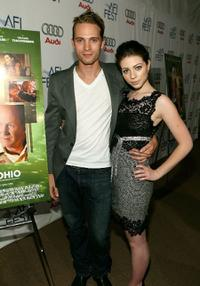 David Call and Michelle Trachtenberg at the world premiere of