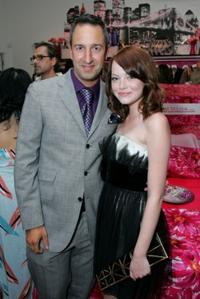 Christos Garkinos and Emma Stone at the Decadestwo and Hautelook.com