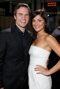 Scott Porter and Minka Kelly at the world premiere of