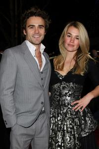 Dustin Clare and Laura Gordon at the opening night of the Melbourne International Film Festival.