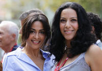 Yasmine Al Masri and Ruba Blal at the 67th Venice Film Festival in Italy.