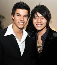 Taylor Lautner and Justin Chon at the after party of the premiere of