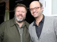 Joel McKinnon Miller and Scott Adsit at the Moet and Chandon suite at Luxury Lounge in honor of the 2008 SAG Awards.
