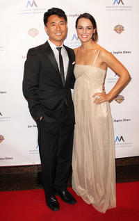 James Kyson Lee and Erin Cahill at the Museum of Tolerance International Film Festival Gala in California.