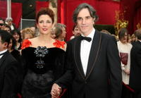 Rebecca Miller and Daniel Day-Lewis at the 80th Annual Academy Awards.