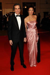 Daniel Day-Lewis and Rebecca Miller at the Orange British Academy Film Awards.