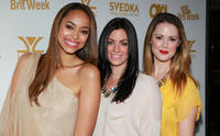 Amber Stevens, Emily Del Giudice and Aynsley Bubbico at the OK! Magazine and BritWeek Oscars Party.