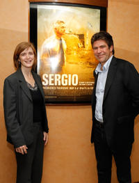 Samantha Power and director/producer Greg Barker at the New York premiere of