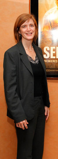 Samantha Power at the New York premiere of