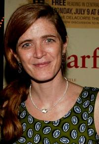 Samantha Power at the after party for a special reading of