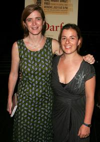 Samantha Power and Winter Miller at the after party for a special reading of