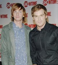 Devon Graye and Michael C. Hall at the premiere of