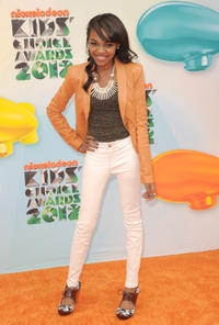China Anne McClain at the Nickelodeon's 25th Annual Kids Choice Awards in California.