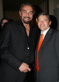 Kabir Bedi and Massimo Carraro at the Rome Film Festival.