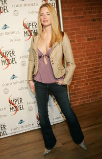 Jessica Morris at the Ford Model's Supermodel of the Year contest in New York.