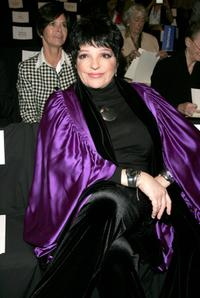 Liza Minnelli at the Olympus Fashion Week.