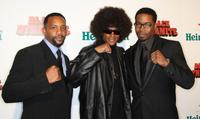 Byron Minns, Tommy Davidson and Michael Jai White at the premiere of