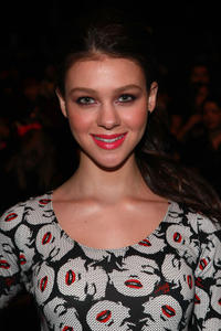 Nicola Peltz at the Betsey Johnson Fall 2011 fashion show during the Mercedes-Benz Fashion Week.