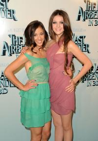 Seychelle Gabriel and Nicola Peltz at the premiere of