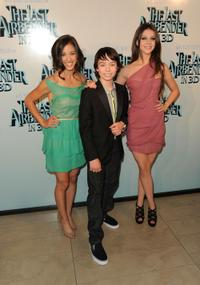 Seychelle Gabriel, Noah Ringer and Nicola Peltz at the premiere of