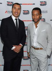 Kweli Washington and John Legend at the Legend's Show Me Campaign benefit.