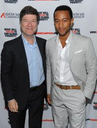 Dr. Jeffrey Sachs and John Legend at the Legend's Show Me Campaign benefit.
