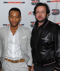 John Legend and Francois-Henry Bennahmias at the Legend's Show Me Campaign benefit.